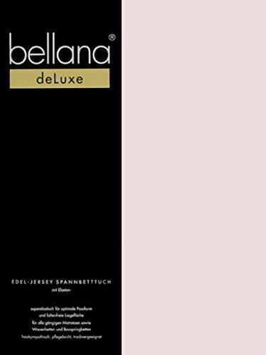 Bellana® Deluxe Spannbetttuch für Wasserbetten und Boxspringbetten, 180-200 x 200-220 cm, zartrosa -