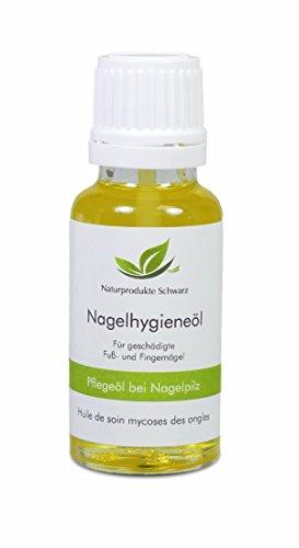 Naturprodukte Schwarz - Pflegeöl bei Nagelpilz - Pflegeöl zur Nagelhygiene, 20ml