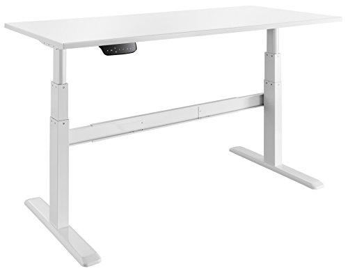 celexon elektrisch höhenverstellbarer Schreibtisch Professional eAdjust-65120W - Weiß - Höhe: 65-120cm - inkl. Tischplatte 150x75cm