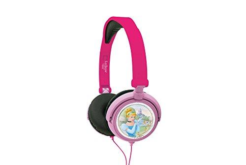Lexibook Disney Princesa Rapunzel Stereokopfhörer, kinderfreundliche Kraft, faltbar und einstellbar, Rosa / Schwarz, HP010DP