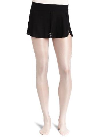 Danskin Women's Sheer Wrap Skirt, Black, Small