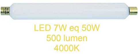 TUBE LINOLITE 7W LED 500 lm eq 50W 40W BLANC 4000K DEPOLIE NEON S19 STRIPLINE