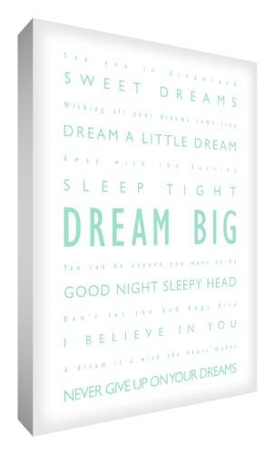 Feel Good Art Dream Big - Cuadro decorativo (40,6 x 30,4 cm), diseño con texto...