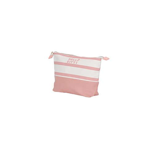 Hello kitty - borsetta per cosmetici in tela Bianco/Rosa