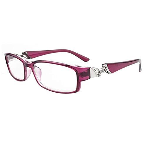 Yefree Unisex Retro Anti-Müdigkeit Lesebrille Mode Strass Lesebrille Rahmen Brille Stärke: 1.0 bis 6.0