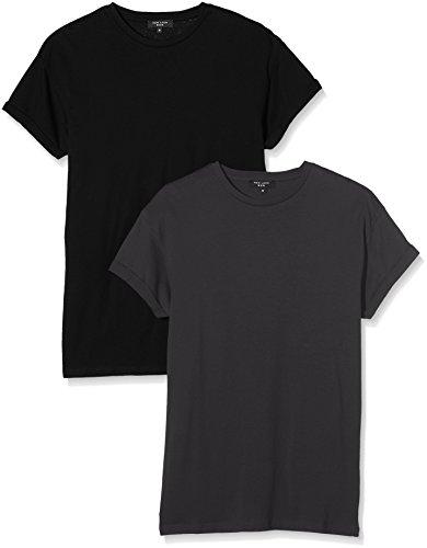 New Look Herren T-Shirt Grau - Grey (Mid Grey)