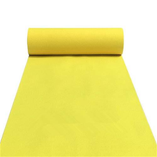 Gelbe Hochzeit Teppich Einweg Verdickung 2 MM Läufer Teppich Roll Schiebe Jeder Länge rutschfeste Feier Hochzeit T-stage Outdoor Activity Teppich