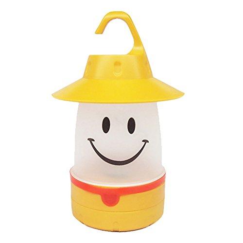 Steellwingsf LED-Laterne mit süßem Smile-Gesicht, für Kinder und Outdoor-Aktivitäten, Nachtlicht, gelb, Einheitsgröße (Kinder-led-laterne)