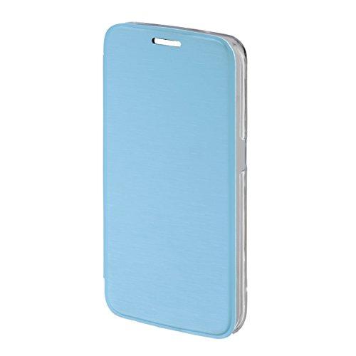 Hama Clear Booklet Schutzhülle für Samsung Galaxy S6 Edge, Hellblau