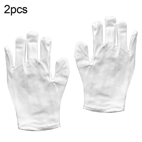 Pointsee 2 Paar weiße Unisex elastische Baumwolle Antik Münzen Schmuck Inspektion Arbeitshandschuhe Gute Bequeme Handschuhe, 1#