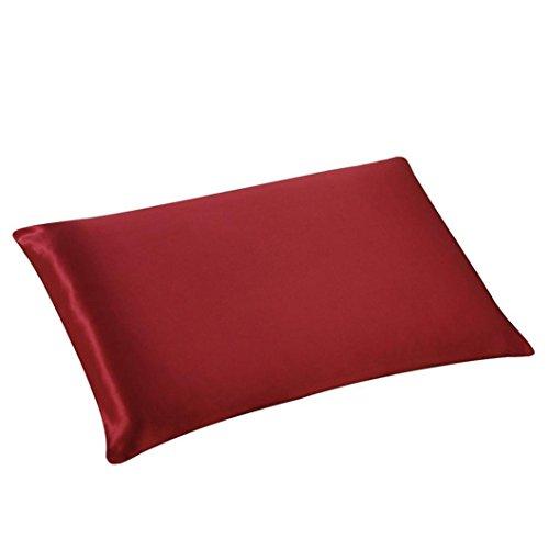 30cmx50cm Rechteck Seide Kissen Abdeckung Hirolan Mehrfarbig Werfen Kissen Fall zum Ruhe, Spiel und Dekor (Rot)