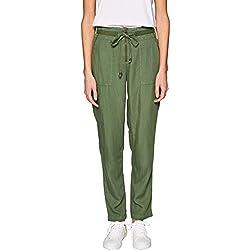 edc by Esprit 039CC1B023 Pantalon, Vert (Forest 365), 44W x 30L Femme