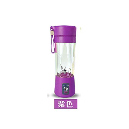 ldqlsq frullatore per smoothie, frullatore per frutta e verdura coltello elettrico multifunzione in acciaio inossidabile con mini miscelatore per frullati di frutta e verdura,purple
