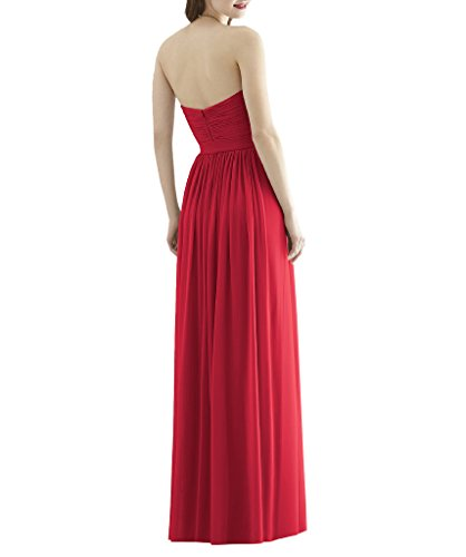 Ssyiz -  Vestito  - plissettato - Donna S6822-Flame Red