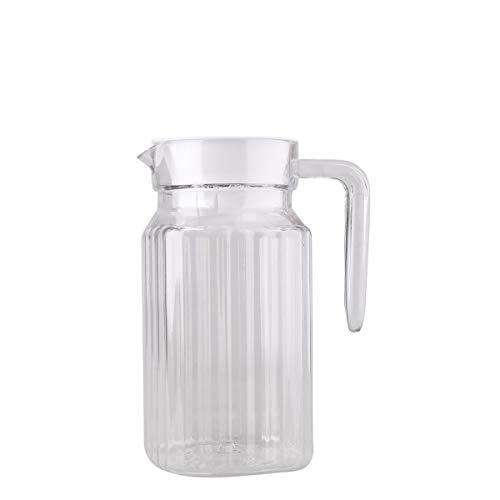 Lagerung Von Flüssigkeiten (Agoky Kühlschrankkrug Glaskrug mit Deckel Flüssigkeit Kühlung Lagerung Becher Cups, 800ml/1000ml Transparent A 800ml)