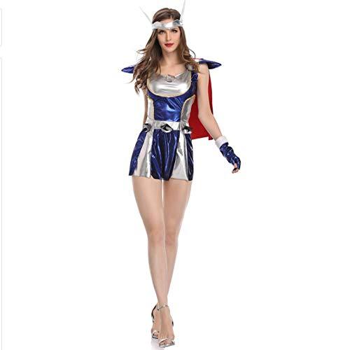 TUWEN Halloween KostüM Cosplay Comic Helden Erwachsenfrauen Ausgabe KostüMe Thor