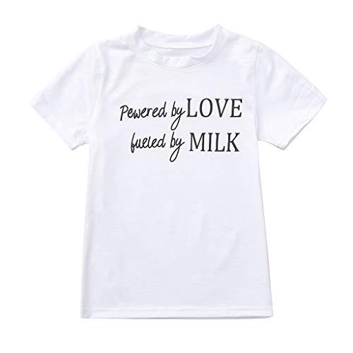 xmansky Familien Outfit Mädchen top, Freizeit Mutter und Tochter Kleidung drucken Kurzarm T-Shirts Tops Bluse,Geeignet für ()