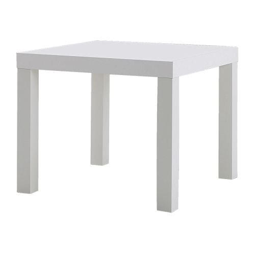 Ikea Side Table Wood White 55 X 55 X 45 Cm