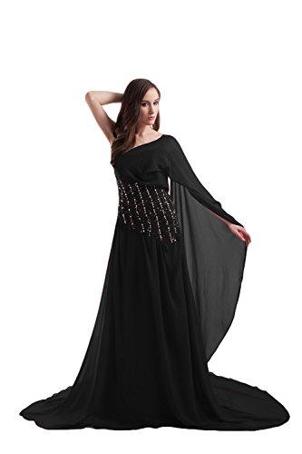 Bridal_Mall - Robe - Trapèze - Sans Manche - Femme Noir - Noir
