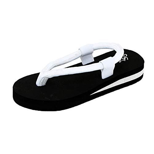 KonJin Women Flip-Flop Sandals Summer Beach Home Slipper Flat Bohemia Style Roman Clip Toe Flip Flop Casual Shoes Womens Dark Brown Croc