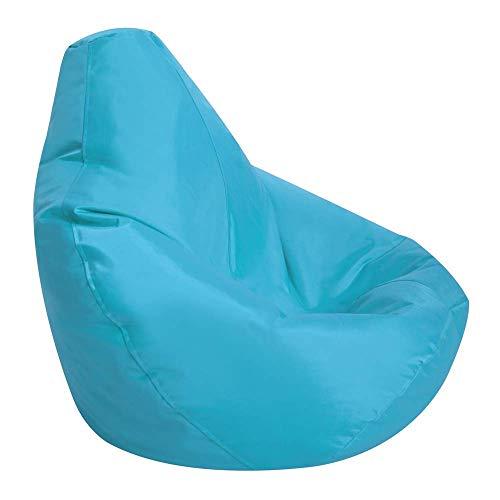 Bean Bag Bazaar Kids Gaming Chair - Large, Aqua Blue, 80cm x 70cm - Childrens Indoor Outdoor BeanBag