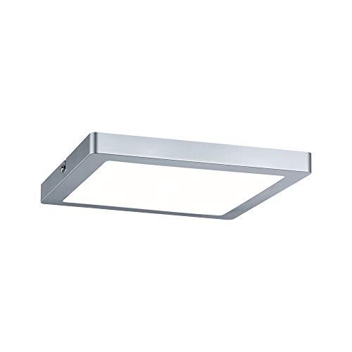 Plafonnier LED Atria - Carré - 16W - Chrome mat - Non dimmable