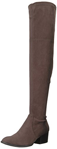 Kenneth Cole New York Women's Adelynn Over The Knee Low Heel Stretch Engineer Boot, Asphault, 10 M US
