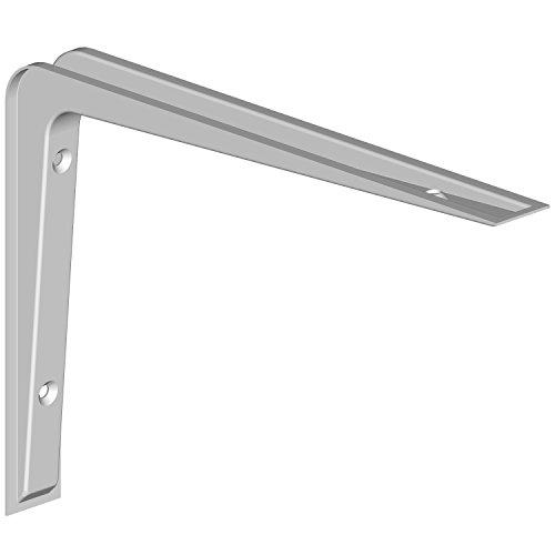 Regalkonsole Alido / Regalträger / 5 Größen / 3 Farben / 2 Stück / Regalwinkel weiß / 155 x 220 mm -