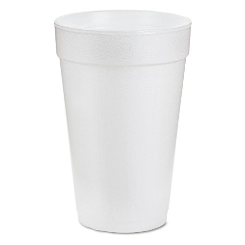 Dart 20J16 3.7 Top & 2.4 Bottom Diameter, 6.1 Height, Big Drink Foam Cup, 20 oz, ( 25) by DART Dart Big Drink Cup