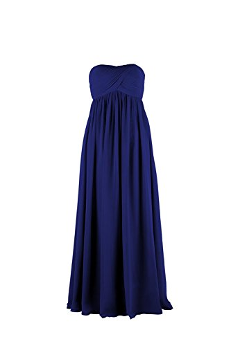 YiYaDawn Langes Trägerloses Cocktailkleid Abendkleid für Damen Königsblau