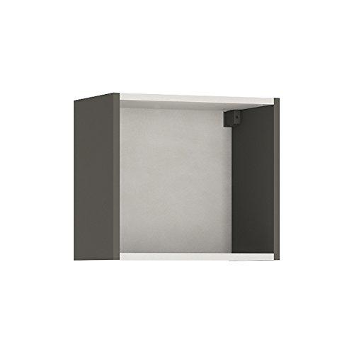 Mobile sospeso con sportello verde furniture to go, legno, grafite grigio chiaro