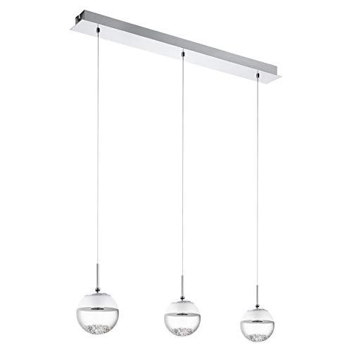 - Chrom-kristall-tisch-lampe (EGLO Led-Hängeleuchte Modell Montefio 1/3, chrom/klar/satiniert 93784 E)