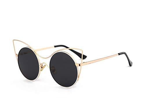 Yiph-Sunglass Sonnenbrillen Mode Kinder Polarisierte Sonnenbrille Baby UV Schutz Katze Ohren Sonnenbrille Jungen und Mädchen Runde Rahmen Brille (Color : Gray)