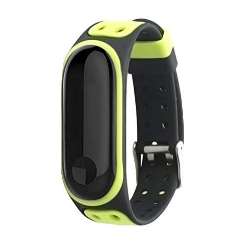 endubro Cinturino per Fitness Tracker Xiaomi Mi Band 3 (Nero/Giallo)