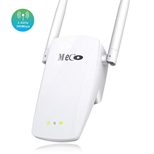 MECO ELEVERDE WLAN Repeater, WLAN Verstärker(300 Mbit/s, mit AP-Modus/Repeater-Modus/Router-Modus) WLAN Booster/WLAN Router WLAN Range Extender▶Einfaches Setup und nahtloses Roaming◀ -Weiß -