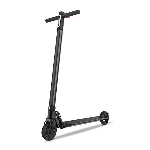 Smarthlon Elektroroller, Max. Geschwindigkeit 20 Km/h E-Scooter, 6 Zoll E-Roller Faltbarer mit Anzeige (Schwarz)