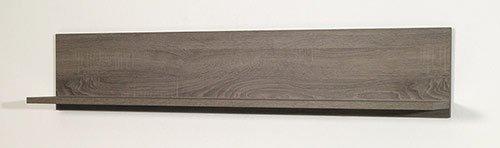 Anbauwand in Sonoma Eiche Dunkel-Nachbildung, bestehend aus: Highboard, Lowboard, Wandbord, Stauraumelement, Gesamtmaße: B/H/T ca. 358/170/40-45 cm - 4