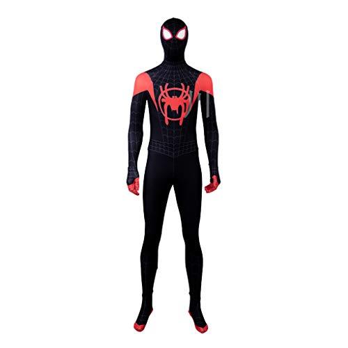 Spiderman Kostüm Verkauf - Spider-Man Parallel Universum Cos Kostüm Little Black Spider Sets Einteilige Strumpfhose Komplett Set Cosplay Halloween,Black-XXL