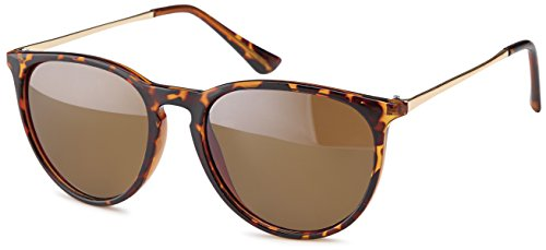 Feinzwirn Vintage Sonnenbrille mit Metallbügel (Demi braun/braun)