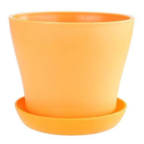 Upxiang Multifonction Pots de Plantes Colorées en Plastique Pots De Fleurs avec Palette/Plateaux Godet pour semis Balcon Jardin Home Decor