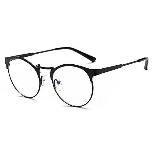 Männer Frauen Runde Brillengestell-Anti Blau Licht Klare Linse Brillengestell für Computer / PC Spiel / TV / Handy Lesen Brillen-Juleya (Frauen Lesen Brille)