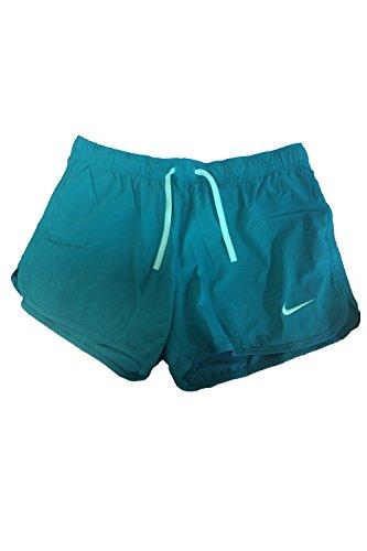 Nike Dri-Fit Just Kickin 'It doppelten Shorts für Frauen, damen, Radient Emerald (Green) / Pink Power (Nike Power Short)