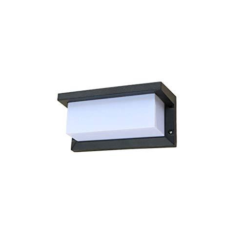 Jtivcs IP54 wasserdicht regendicht Outdoor LED Wandleuchte schwarz Finish modern warmweiß LED Wandleuchte Rechteck Acryl Aluminium Metall Außen Villa Garten Veranda Beleuchtung for die Nacht - Schwarz Finish, Outdoor-wandleuchte