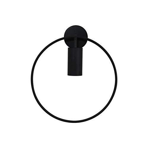 LF stores Wandleuchte Minimalist Line Black Ring Wandleuchte Spanischer Designer Kreative Persönlichkeit Restaurant Schlafzimmer Nachtgang Balkon Innenbeleuchtung (Größe : L) -
