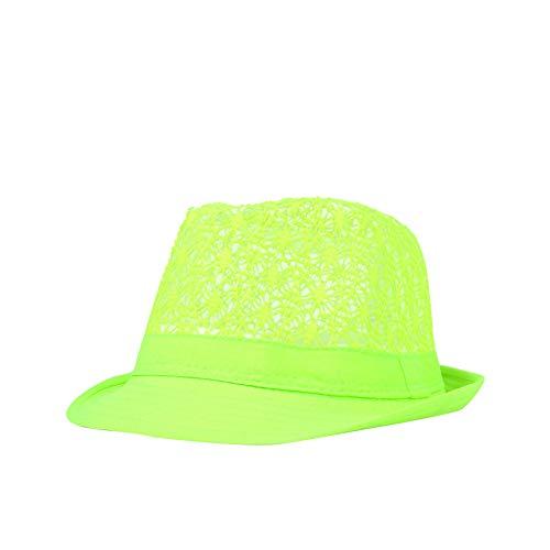 Kentop Panamahut Fedora Hut Damen Herren Sonnenhut Trilby Hut (Grün)