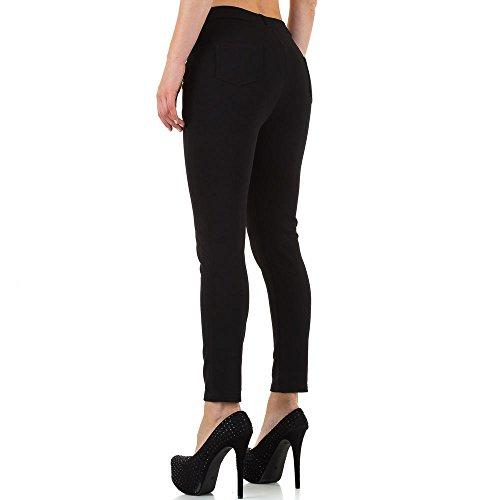 Plus Size Low Skinny Hose Für Damen bei Ital-Design Schwarz