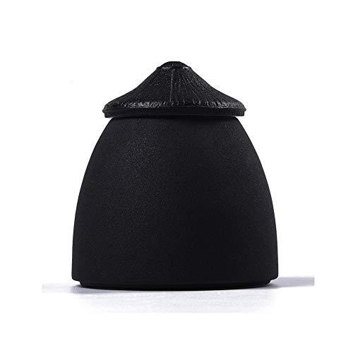 Feuerbestattung Bestattungsurne Für eine kleine Menge von menschlicher Asche Mini kompakt Einzigartige Form Perfektes Souvenir Wird für Familienurnen verwendet (Color : Black)