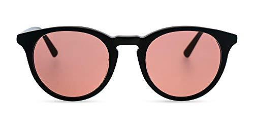 MessyWeekend Depp - Klassisch Runde Dänische Designer Sonnenbrillen mit UV400 Schutz - Schwarz