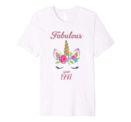 Fabulous Since 1997 Unicorn Birthday T Shirt Cutest Princess