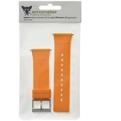 nanox - Apple iPod nano silicone strap (Orange strap / Silver buckle)